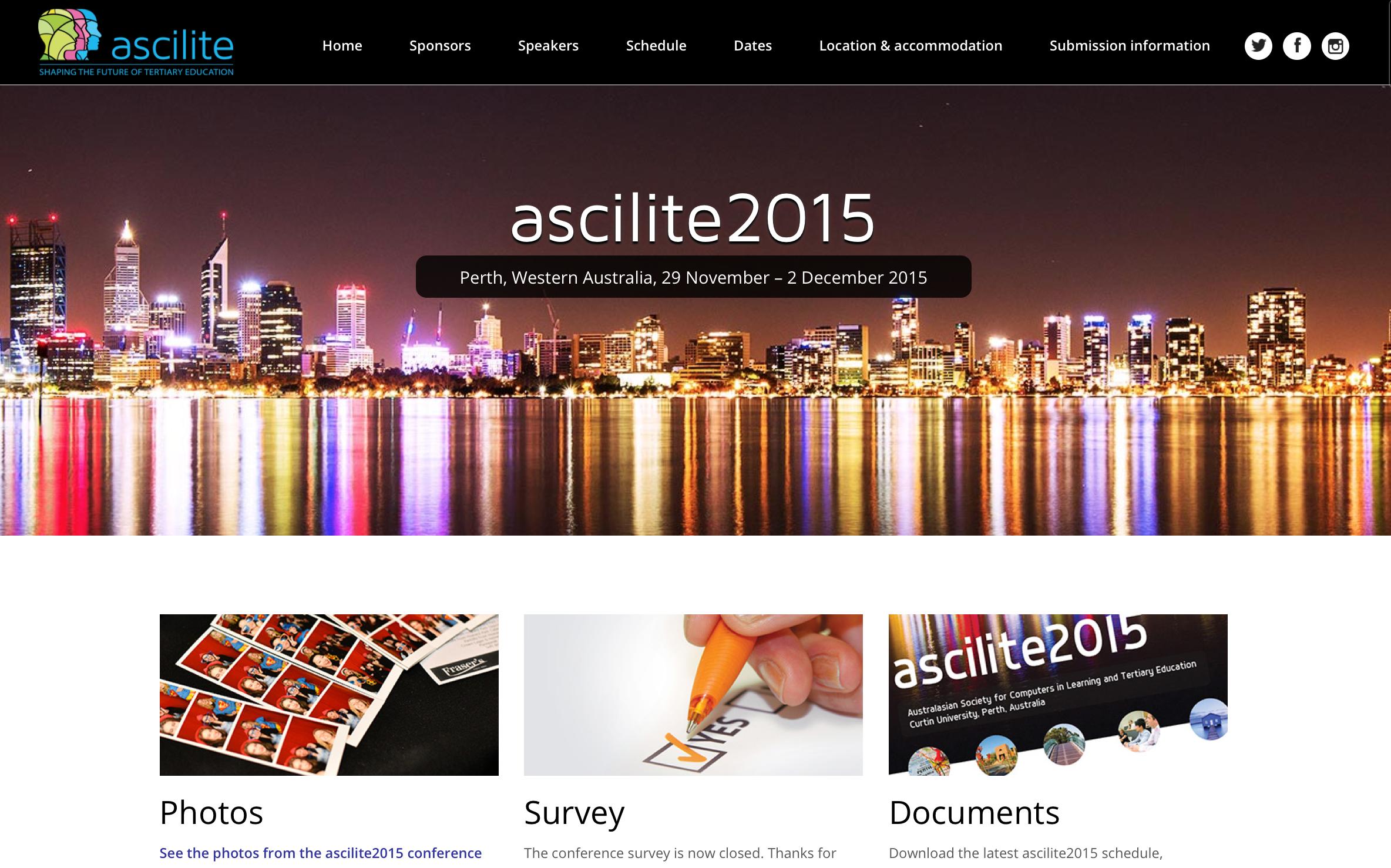 Ascilite 2015 logo