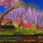 21strom add Wisteria Tree Five Fingers to Kitely Market