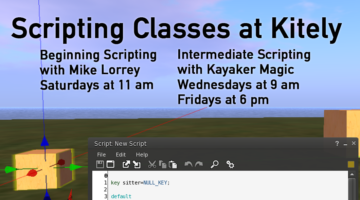 Beginning and Intermediate Scripting Classes at Kitely